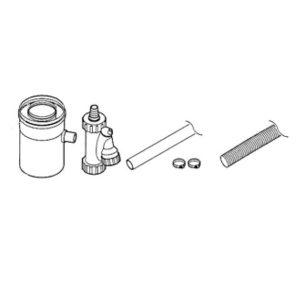 Горизонтальный отвод для конденсата коаксиальный
