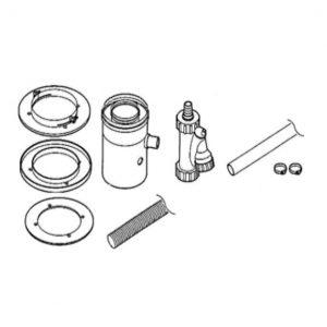 Вертикальный отвод для конденсата коаксиальный