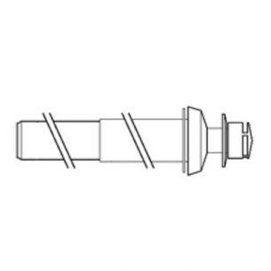 Коаксиальный вертикальный комплект для отвода дымовых газов через крышу