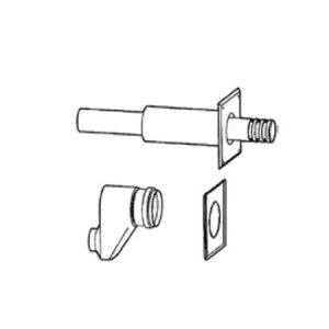 Горизонтальный двухтрубный комплект для отвода дымовых газов