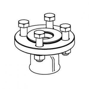 Адаптер для подсоединения пружинного предохранительного клапана