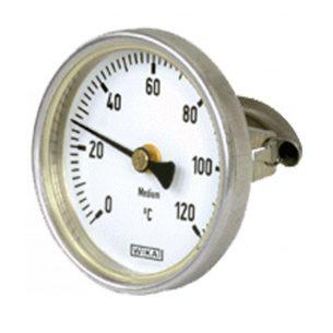Термометр • 30-80 °C • С датчиком • Установка на крышку бака